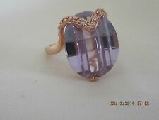 Lovely Swar Crystal on Gold Filled Setting - Size 5