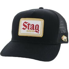 "Hooey ""Stag"" Black 5-panel Trucker Hat 9710T-BK"