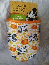 2 Disney Mickey Mouse Oversized Mini Oven Mitts Pot Holder Kitchen Pumpkins New