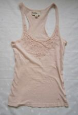 ABERCROMBIE & FITCH CROCHET DETAILED TANK ~ SIZE S / SMALL ~ LIGHT PINK ~ EUC