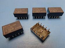 (5) TQ2H-12V Aromat Nais Telecom DPDT Relay 1A 12VDC 12V NEW 10 PIN DIP