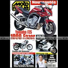 MOTO REVUE N°3437 YAMAHA FZS 1000 FAZER FZR 600 R  TRIUMPH 900 TIGER APRILIA RST