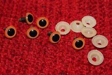 6 X Toy Ojos-Seguridad De Peluche Ojos 12MM Naranja-Alta Calidad-Muñeca Oso Animal Gallina