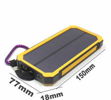 Waterproof 2000000mAh Portable Solar Charger Dual USB Battery Power Bank Yellow