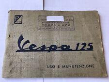 Vespa 125 VMA Libretto Uso Manutenzione