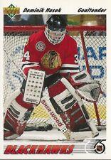 1991-92-UPPER DECK  ROOKIE- DOMINIK HASEK  ROOKIE CARD  CHICAGO BLACKHAWKS A