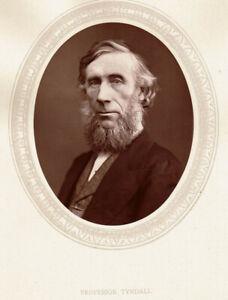 IRISH Physicist JOHN TYNDALL AUTOGRAPH w 19thC PORTRAIT Proved GREENHOUSE EFFECT