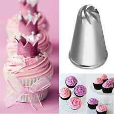 8Tooth Flower Twist Spiral Cake Icing Piping Nozzle Cake Cupcake Decor Pastry