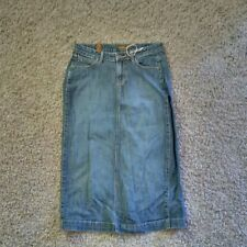 AURA by Wrangler long Denim Jean Skirt Modest womens size 6 VGUC