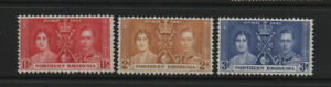 Northern Rhodesia 1937 Coronation MLH mint set stamps