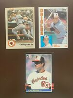 HOF Cal Ripken Jr - Baltimore Orioles Baseball Card Lot of 3
