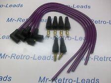 """Kit de encendido plomo de rendimiento 8MM púrpura apto para 4 Cyl 90"""" grados Chispa HT.."""
