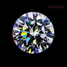 Round D White VVS Simulated Lab Diamond Hearts & Arrows Russian 6AAAAAA Diamond