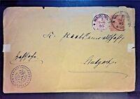 Wurttemberg 1895 Uprated Postal Stationary (light edge creases / tears) - Z1073