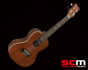 LA KCAE Kohala Akamai Series Mahogany Uke Acoustic Electric Concert Ukulele