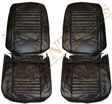 1967 Chevrolet Chevelle Front Bucket Seat Covers Upholstery Skins Black Vinyl
