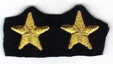[Militaria] Coppia Stelle ricamate - Stellette oro su fondo nero - mm 23