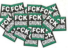 50 FCK Grüne Aufkleber ACAB Ultras Protest Anti NATO Dieselverbot Anti Merkel