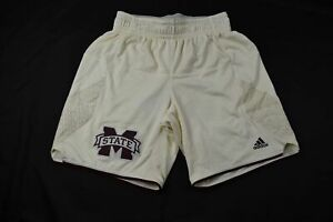 Mississippi State Bulldogs adidas Shorts Men's Cream Poly NEW Multiple Sizes