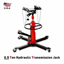 1660lbs 360° 2 Stage Hydraulic Transmission Jack Stand Lifter Hoist For Car Lift