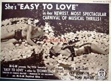 """SHE'S """"EASY TO LOVE"""" Original 1954 Film Advert - Esther Williams Movie Ad"""