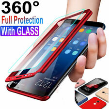 For Samsung Galaxy J4 2018 A5 2018 J4 J6 360° Full Cover Case + Tempered Glass
