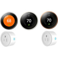 Nest Learning Thermostat 3rd Gen with 2 WiFi Smart Plugs | Choose a Color