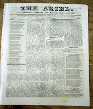 <1830 newspaper BRITISH NAVY HERO Admiral HORATIO NELSON DEAD Napoleonic Wars