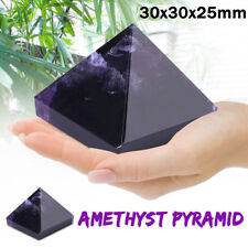 Reiki Energy Charged  Large Amethyst Pyramid Natural Crystal Healing Stone Decor