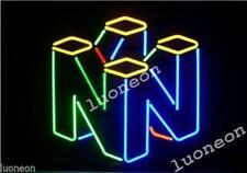 New Nintendo 64 Video Arcade Game Room HANDCRAFTED REAL NEON SIGN LIGHT MAN CAVE