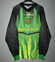 MANCHESTER UNITED 1997/1998 GK FOOTBALL SHIRT SOCCER JERSEY UMBRO GOALKEEPER