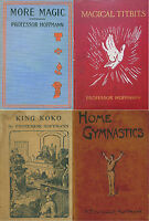 14 PROFESSOR HOFFMANN BOOKS ON MAGIC,PUZZLES,TRICKS,ILLUSIONS, CONJURING ON DVD