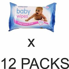 Cotton Tree Sensitive Baby Wipes Soft Texture - Pack of 12 (Total 960 Wipes)