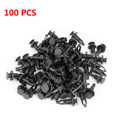 Black Nylon 100X Front Bumper Cover Retainer Push Type Clip Fastener For Toyota