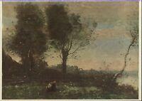 Alte Kunstpostkarte - J.B.C. Corot - The Woodgatherers