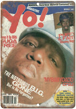 "1997 Yo! Mag, Biggie Smalls, Notorious B.I.G., Bad Boy 10"" x 7"" retro metal sign"