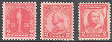 Sc#688, 689, 690 - 1930-1931 2c Issues Set of 3 Mnh