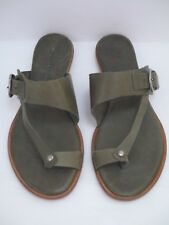 NEW COCLICO olive green leather flat sandals Euro size 36.5