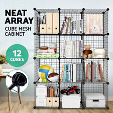 12 Cube Storage Cabinet DIY Wire Storage Shelves Metal Display Shelf Toy Book