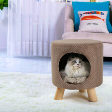 Pet Cave Bed Small Dog Cat Tree Kitten Sleeping Nest Play House Condo Furniture