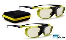 2x Hi-SHOCK® DLP Pro Lime Heaven | DLP-Link 3D Shutter Brille für Beamer | 2016