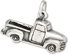 50's Pickup Truck Charm Sterling Silver Pendant 3D Transportation Car Automo