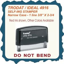 Rubber stamp, 1 Line, Do Not Bend, narrow case, Trodat/Ideal 4916 Self Inking
