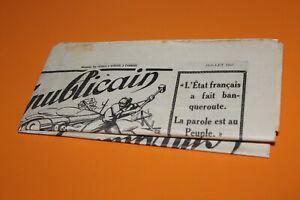 (82) Journal Le combattant républicain Juillet 1935 N°7