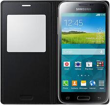 Genuine Samsung Galaxy S5 Mini s View Flip Cover Case - Black