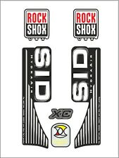 ROCK SHOX SID XC HYDRA AIR  FORK / SUSPENSION DECAL SET