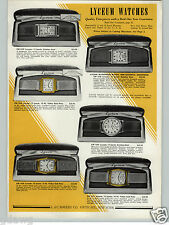 1941 PAPER AD 5 PG Lyceum Wrist Watch 17 Jewels Gold Rectangle Duo Face Doctor