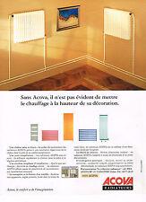 PUBLICITE ADVERTISING 074  1992  ACOVA    radiateurs
