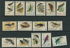 NORFOLK ISLANDS 1970-71 BIRDS set topical (Scott 126-40) VF MNH