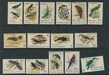 NORFOLK ISLANDS 1970-71 BIRDS set topical (Scott 126-40) VF MNH